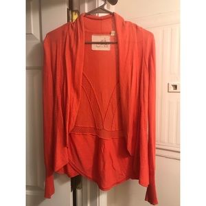 Anthropologie Angel of the North Coral Cardigan